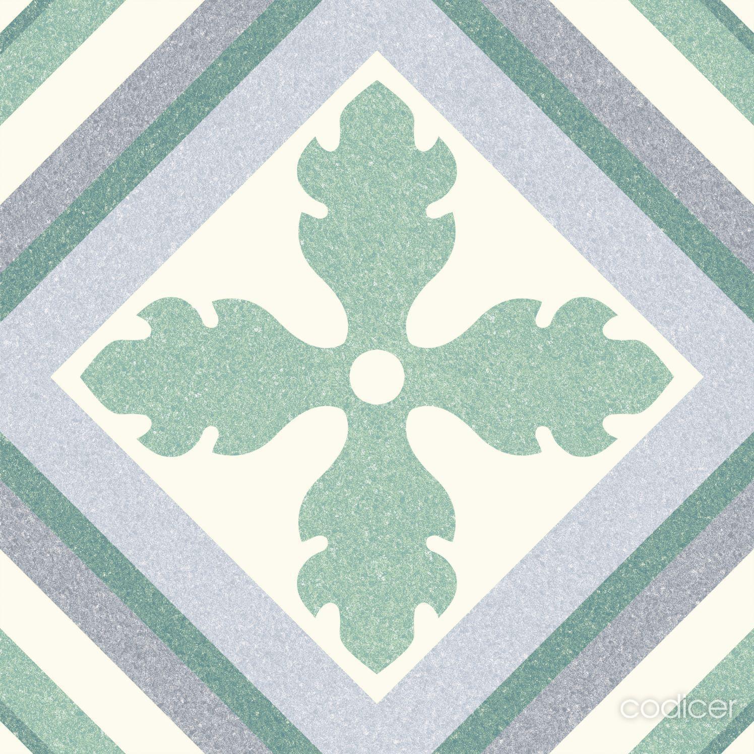 6.0004.21  Codicer Retrofliese / Feinsteinzeug Saint Tropez Green
