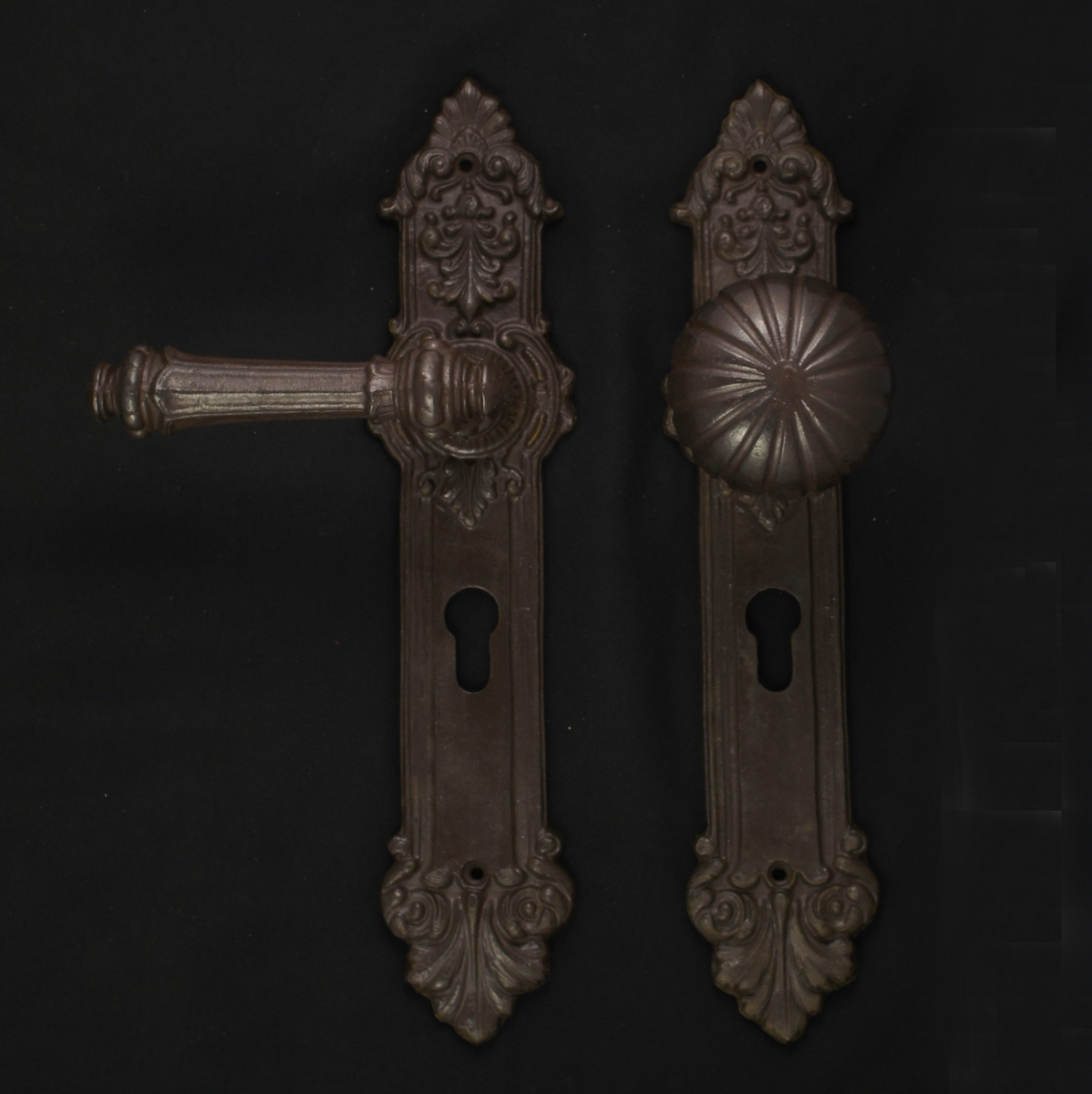 Haustürgarnitur - antike Türdrücker, Türklinken, Türbeschläge