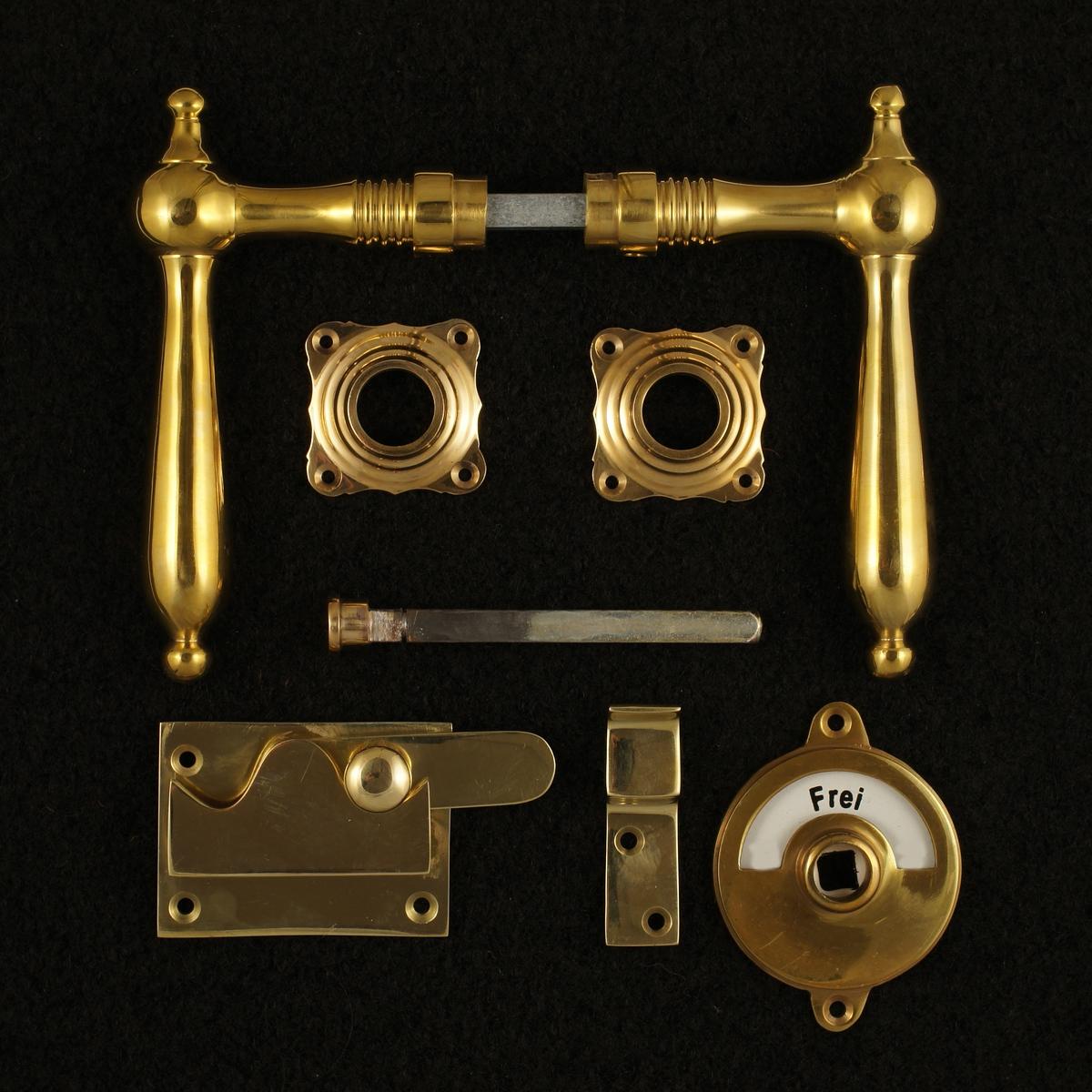 341.0059.35 WC-Zimmertür Rosettengarnitur - antike Türdrücker, Türklinken, Türbeschläge