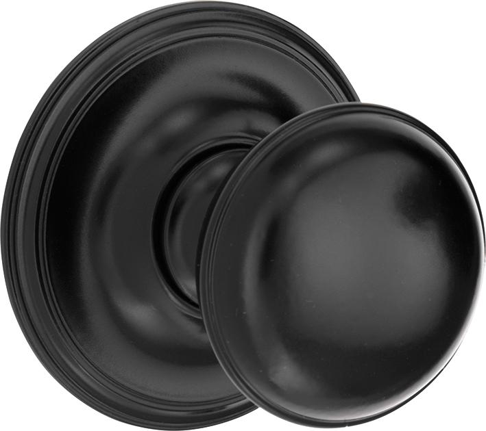 313.0025.07 Haustür Türknauf Messing pulverbeschichtet schwarz 20er Jahre Stil