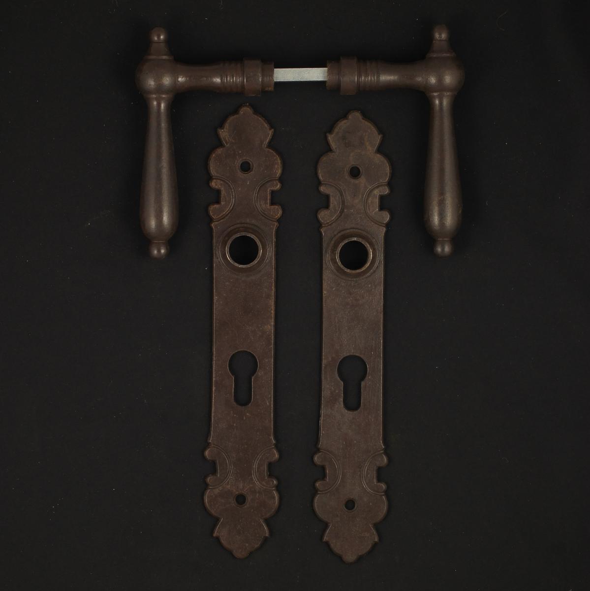 322.0031.60 Zimmertür Langschildgarnitur - antike Türdrücker, Türklinken, Türbeschläge