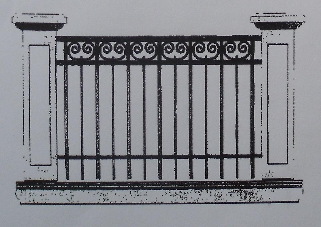 JCB historisches Balkonbrüstungsgeländer