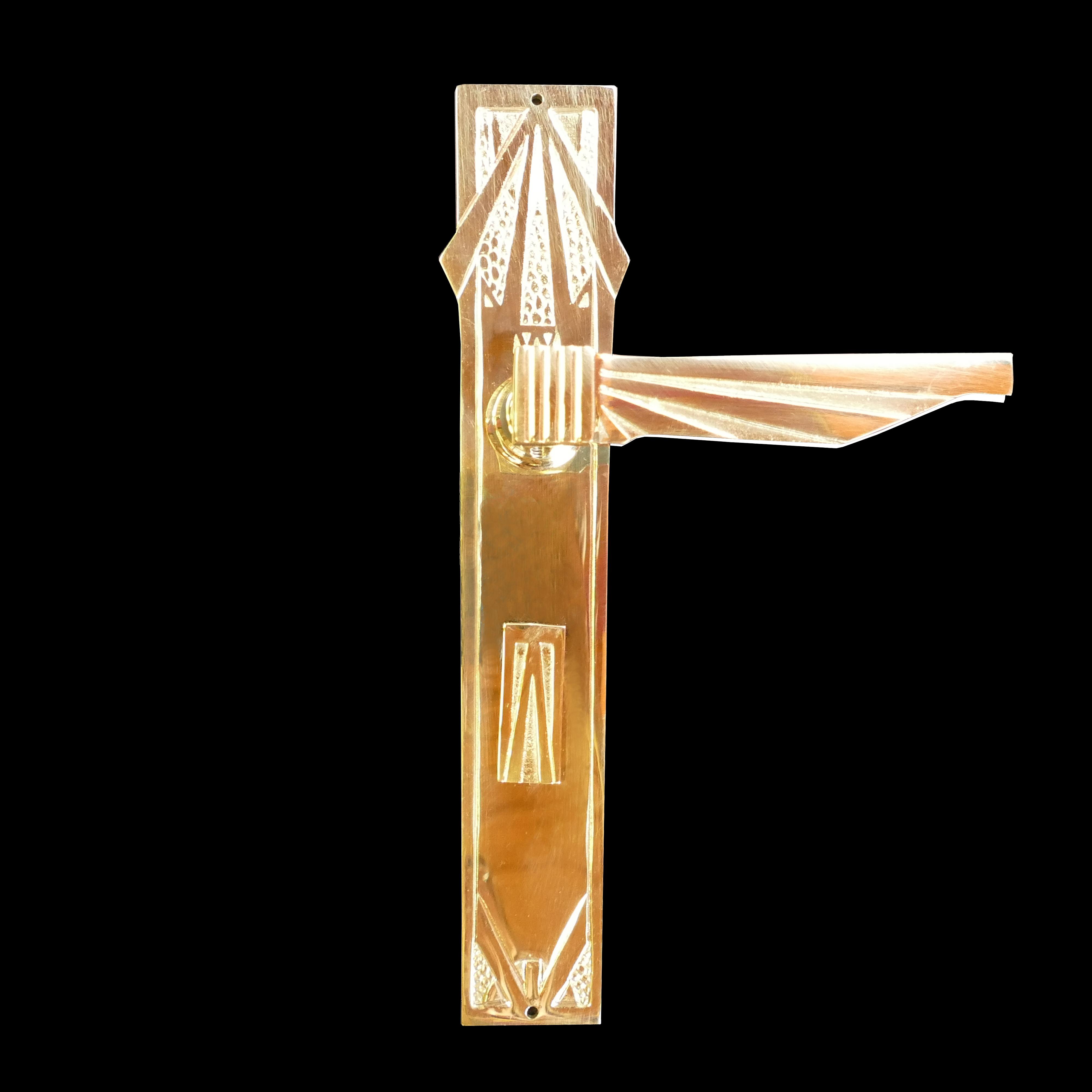 Langschildgarnitur- antike Türdrücker, Türklinken, Türbeschläge