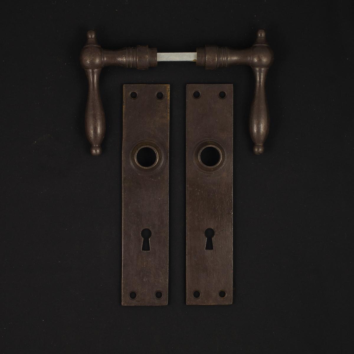 322.0023.60 Zimmertür Langschildgarnitur - antike Türdrücker, Türklinken, Türbeschläge