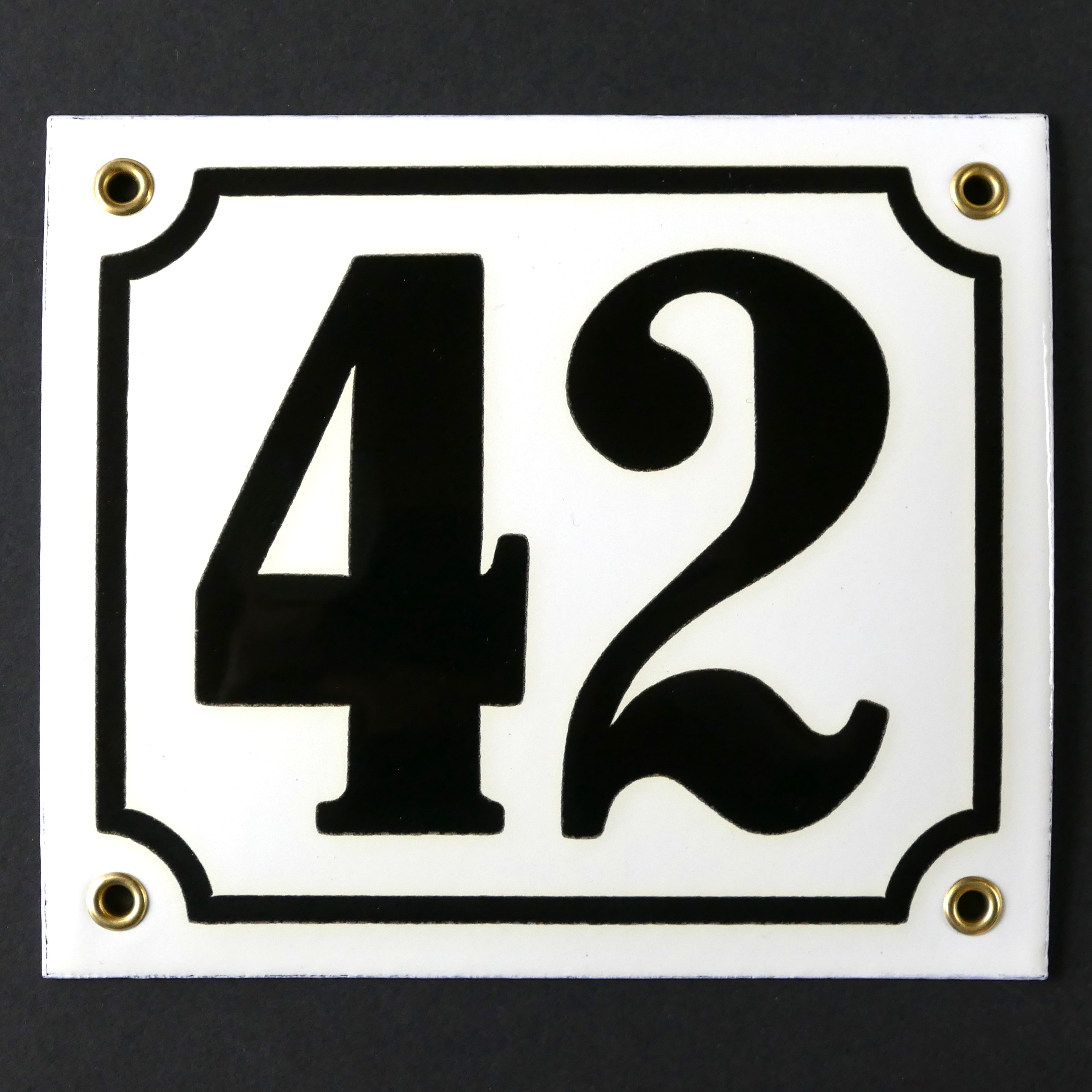 Hausnummer Emailleschild