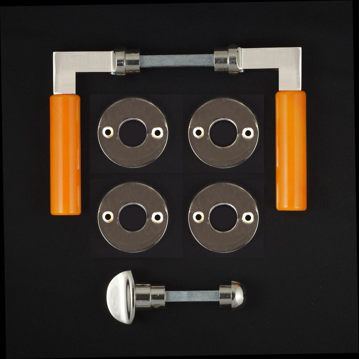 WC-Zimmertür Rosettengarnitur - antike Türdrücker, Türklinken, Türbeschläge