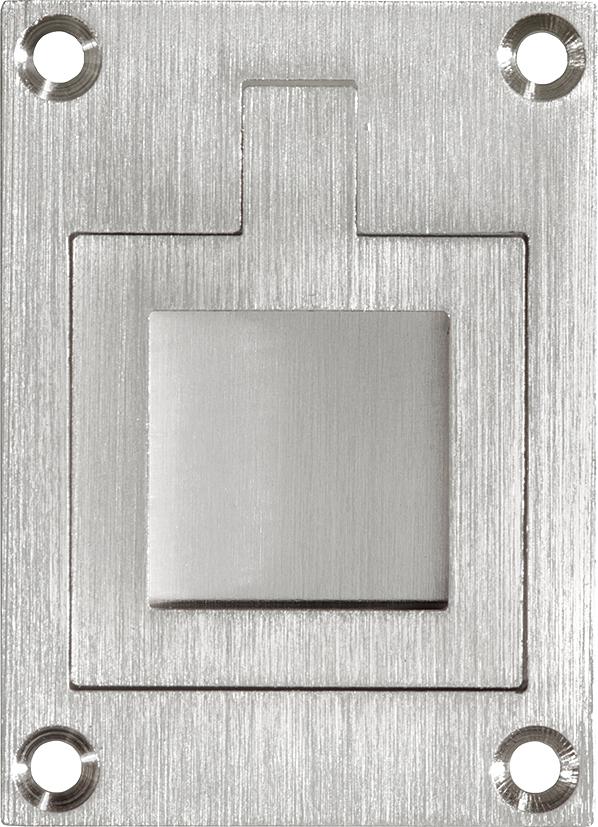 325.0041.15 Schiebetür Strirngriff  Bauhaus Stil Messing  vernickelt matt gebürstet
