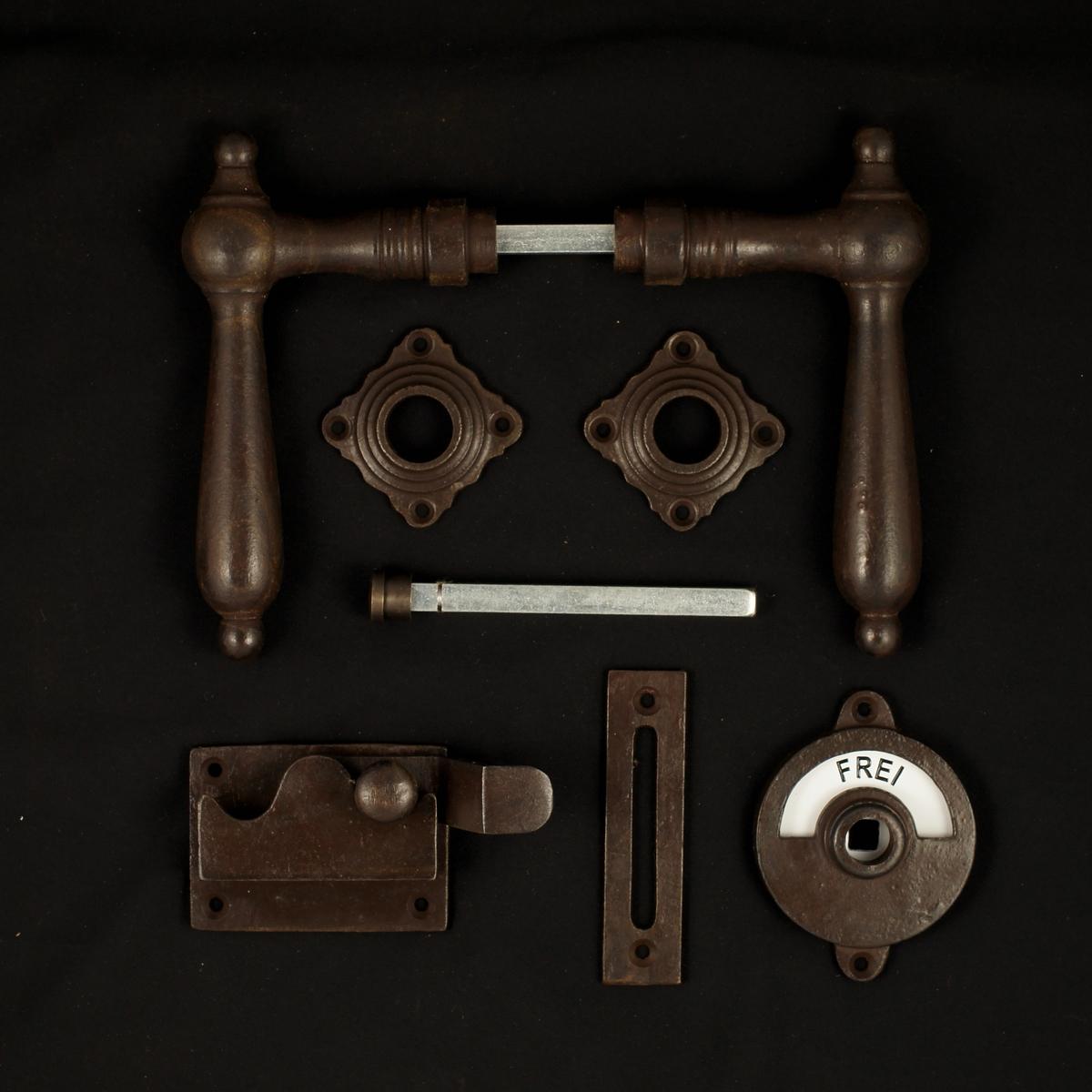 341.0164.60 WC-Zimmertür Rosettengarnitur - antike Türdrücker, Türklinken, Türbeschläge