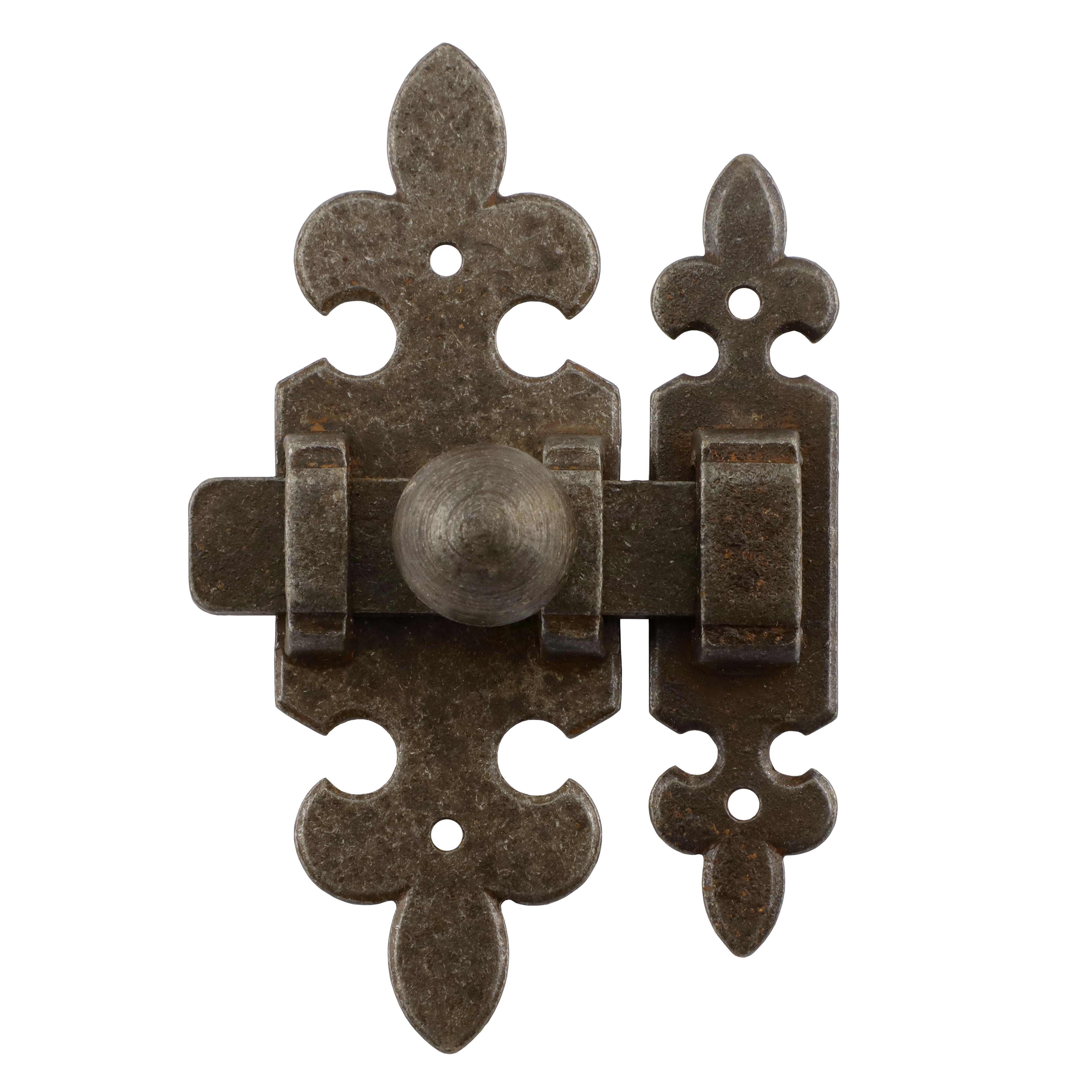 318.0024.60 Schieberiegel mit Falle Renaissance Eisen antik