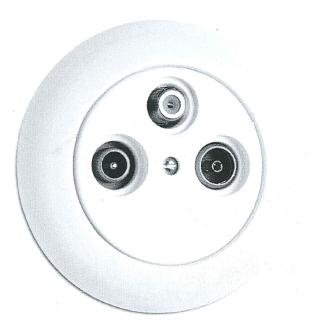 Antennensteckdose SAT Porzellan, Unterputz-Schaltersystem