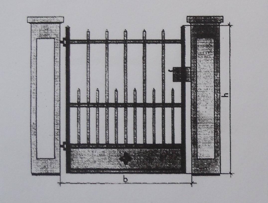 JCB historische Eisentür