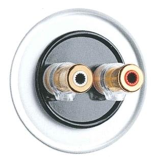 Lautsprecheranschlußdose WBT nextgen, Unterputz-Schaltersystem Glas mit Bakelit schwarz