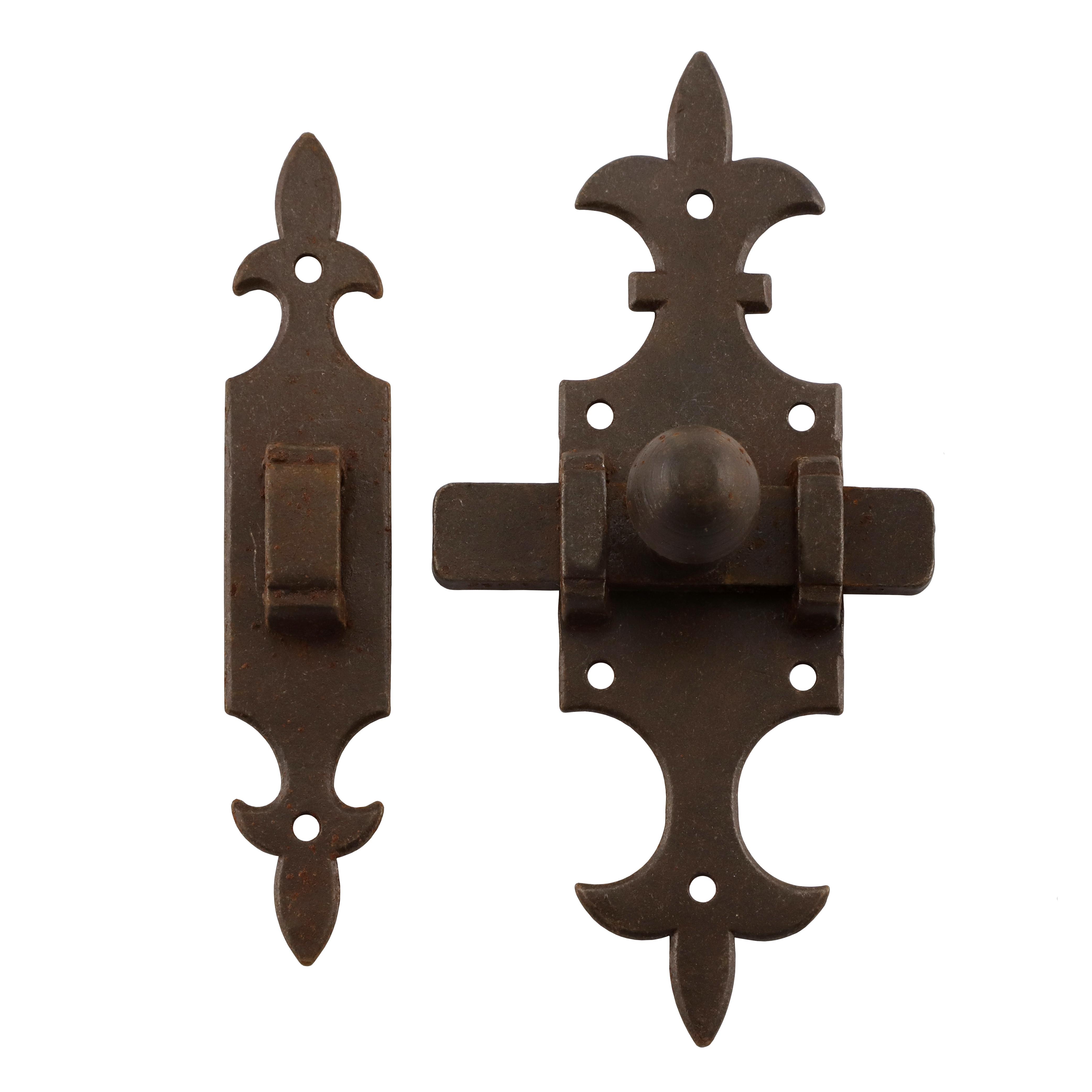 318.0025.60 Schieberiegel mit Falle Renaissance Eisen antik