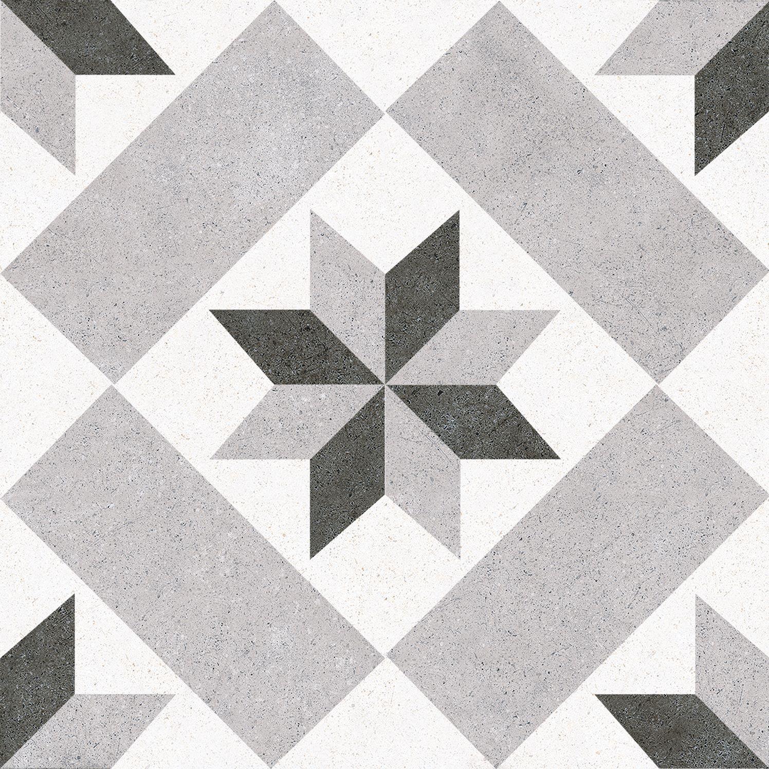 6.0020.21  Codicer Retrofliese / Feinsteinzeug VINTAGE STAR GREY
