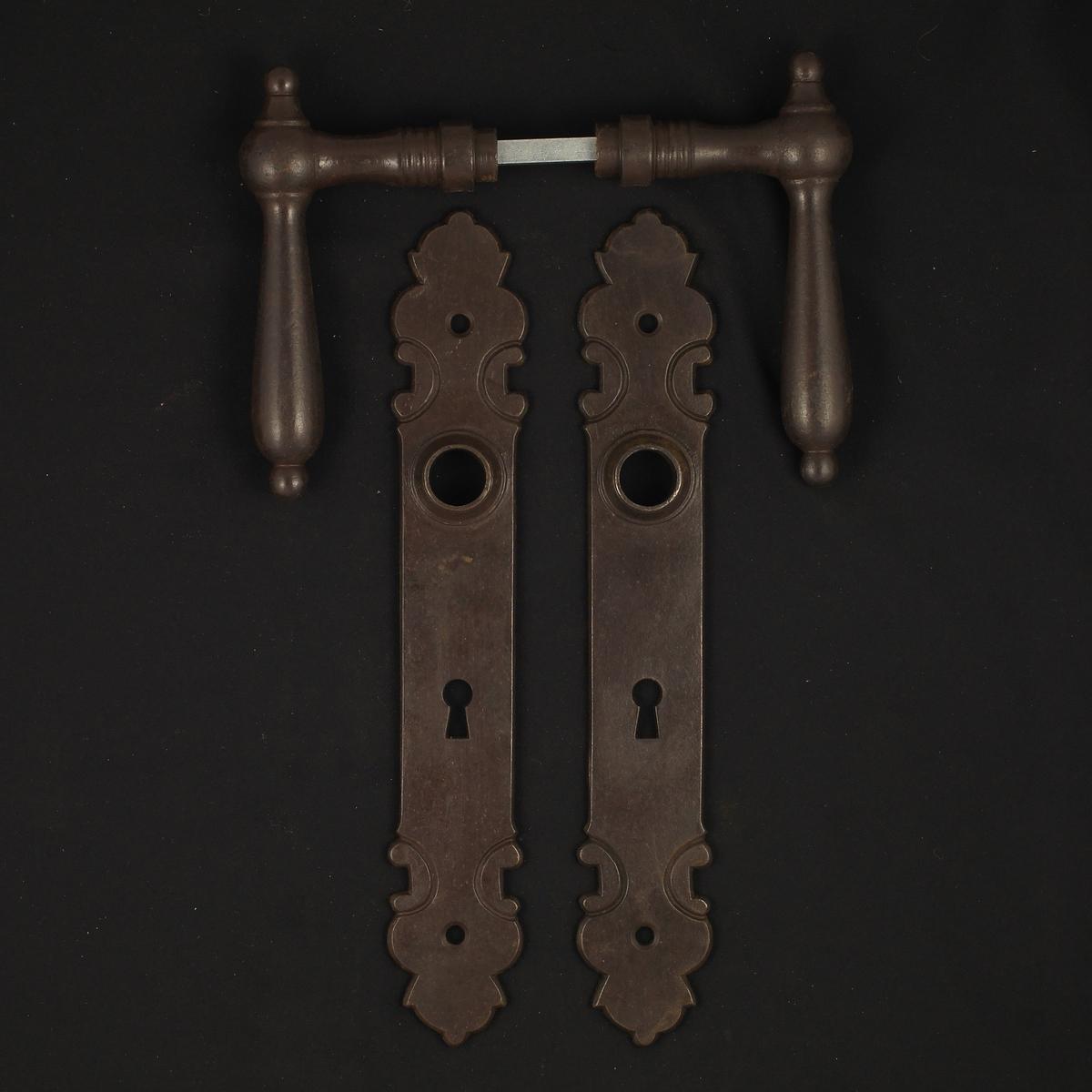 322.0025.60  Zimmertür Langschildgarnitur - antike Türdrücker, Türklinken, Türbeschläge