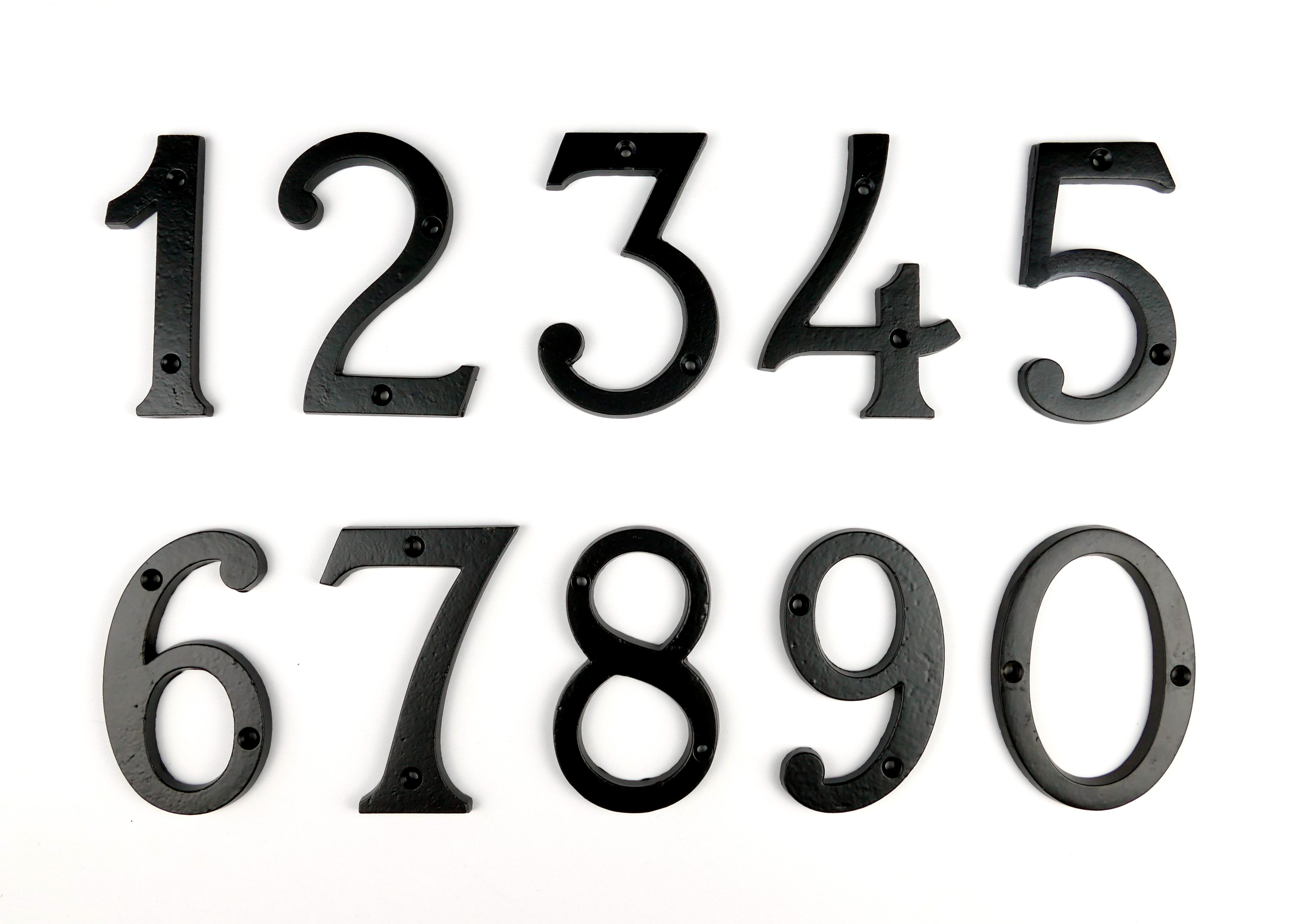 Hausnummer Zimmernummer Eisen schwarz