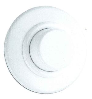 Dimmer Glühlampen, Unterputz-Schaltersystem Duroplast weiß mit runder Abdeckung