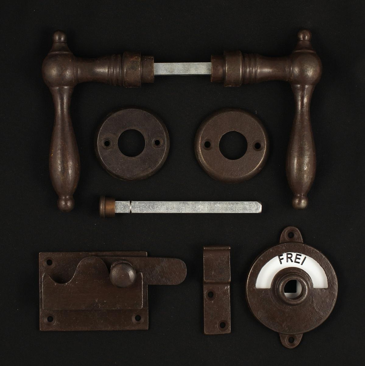 341.0090.60 WC-Zimmertür Rosettengarnitur - antike Türdrücker, Türklinken, Türbeschläge