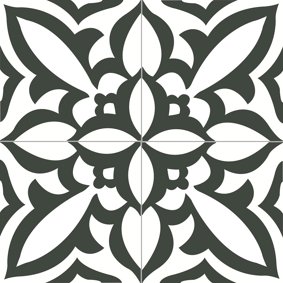 6.0009.20  Zementfliese / Retrofliese Elv Snow White