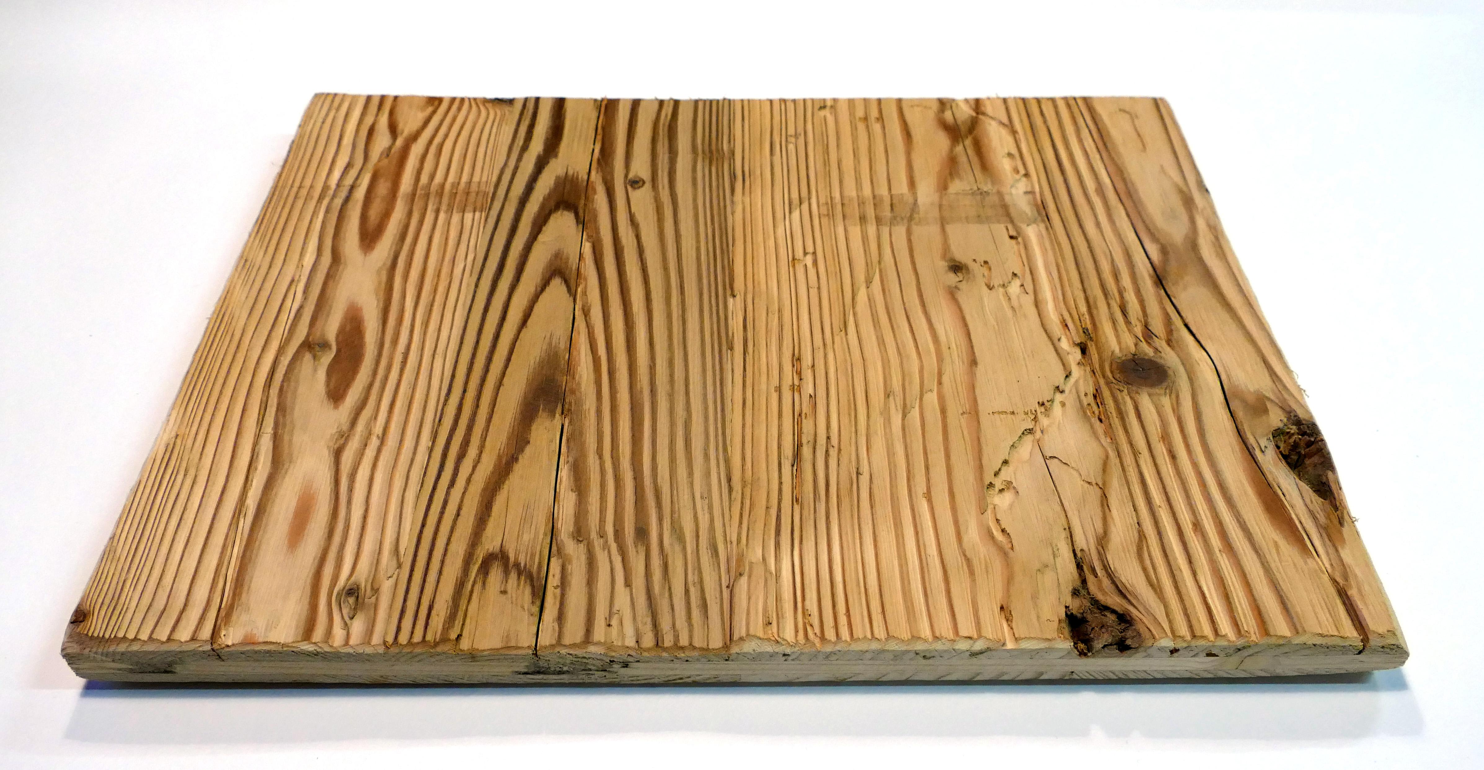 Altholz / Leimholzplatten 3-Schichtplatte mit gehackter Oberfläche