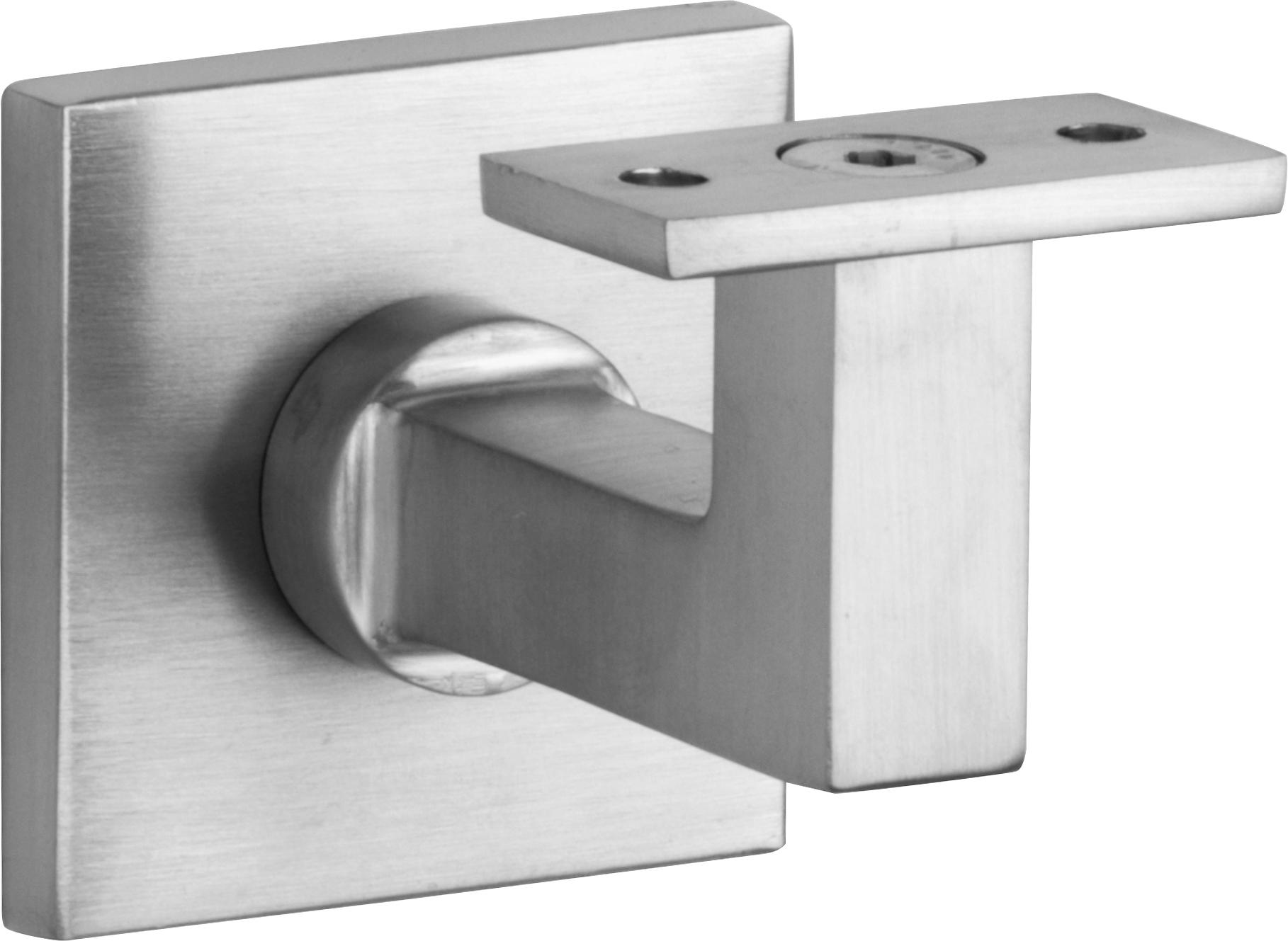 100.0007.15 Handlaufhalter  Bauhaus Stil Messing  vernickelt matt