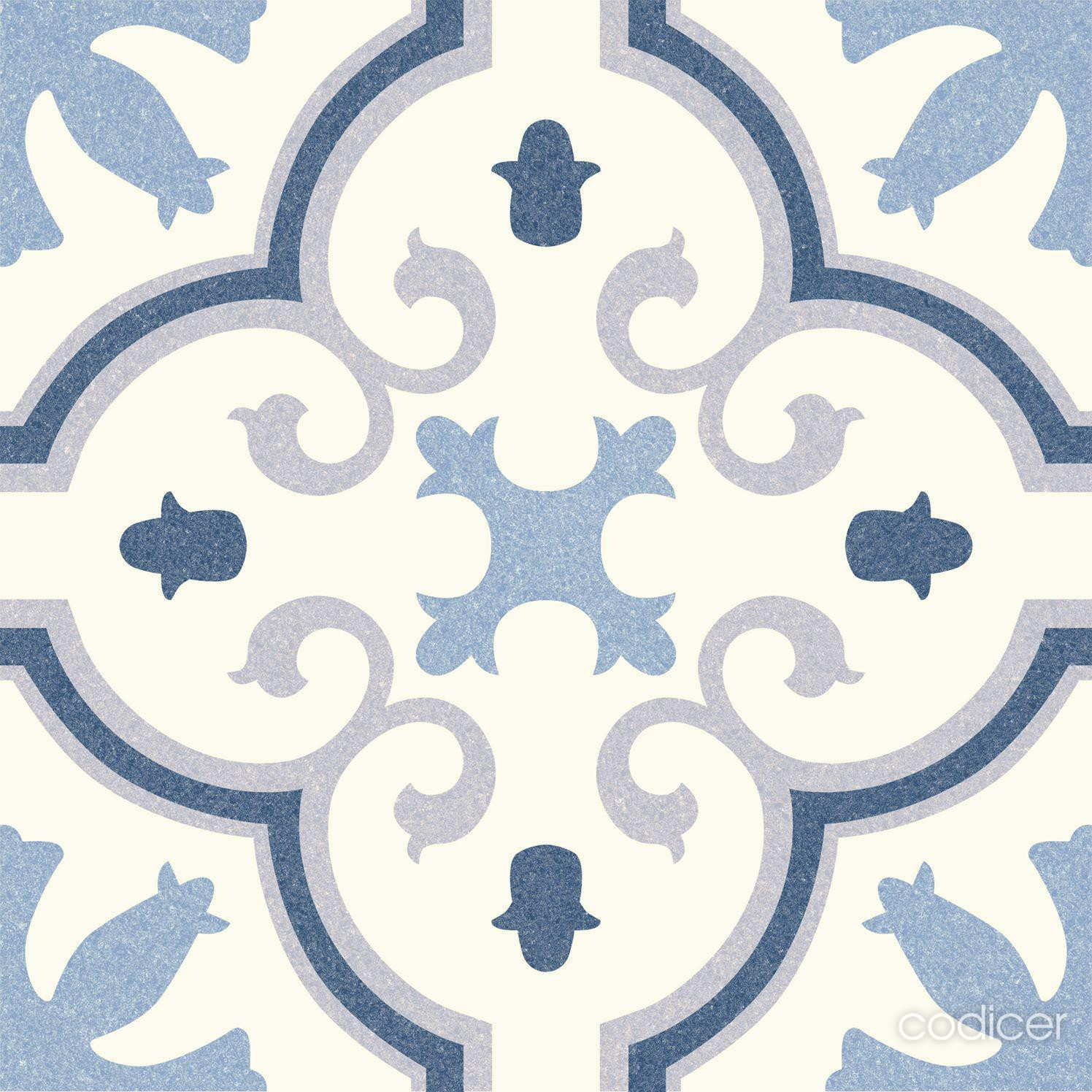 6.0007.21  Codicer Retrofliese / Feinsteinzeug MONTECARLO BLUE
