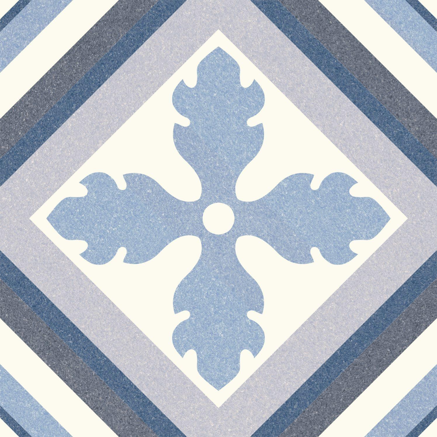6.0003.21  Codicer Retrofliese / Feinsteinzeug Saint Tropez Blue