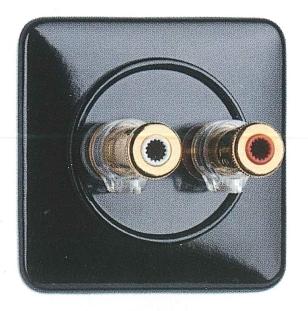 900.0001.BS Lautsprecheranschlußdose WBT nextgen Bakelit,Unterputz-Schaltersystem mit eckiger Abdeckung