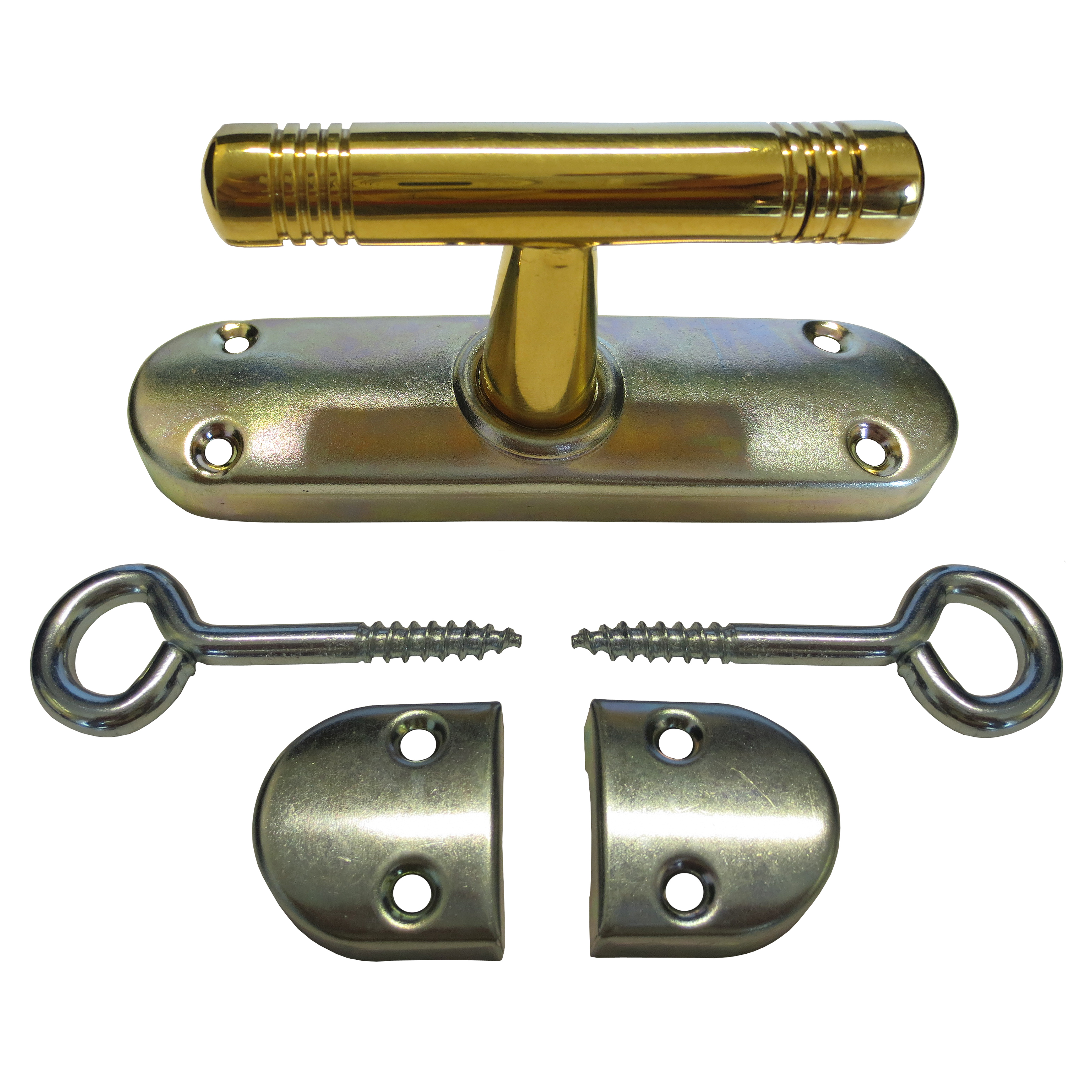 430.0012.35 Aufliegendes Fenstergetriebe  Jugendstil, mit T-Ololive und 1/2 Drehung , ohne Zunge , ohne Stangen