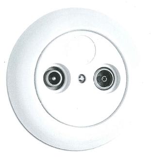 Antennensteckdose Kabel Porzellan, Unterputz-Schaltersystem