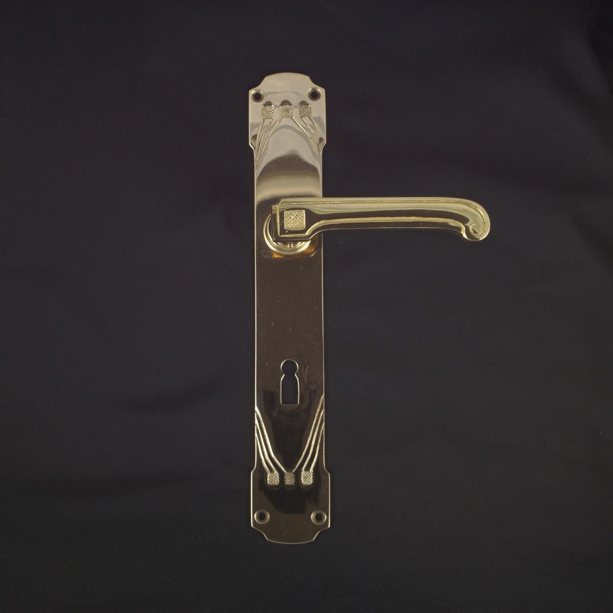 322.0049.35 Zimmertür Langschildgarnitur - antike Türdrücker, Türklinken, Türbeschläge