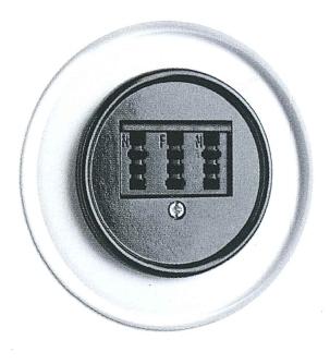 Telefonsteckdose, Unterputz-Schaltersystem Glas mit Bakelit schwarz