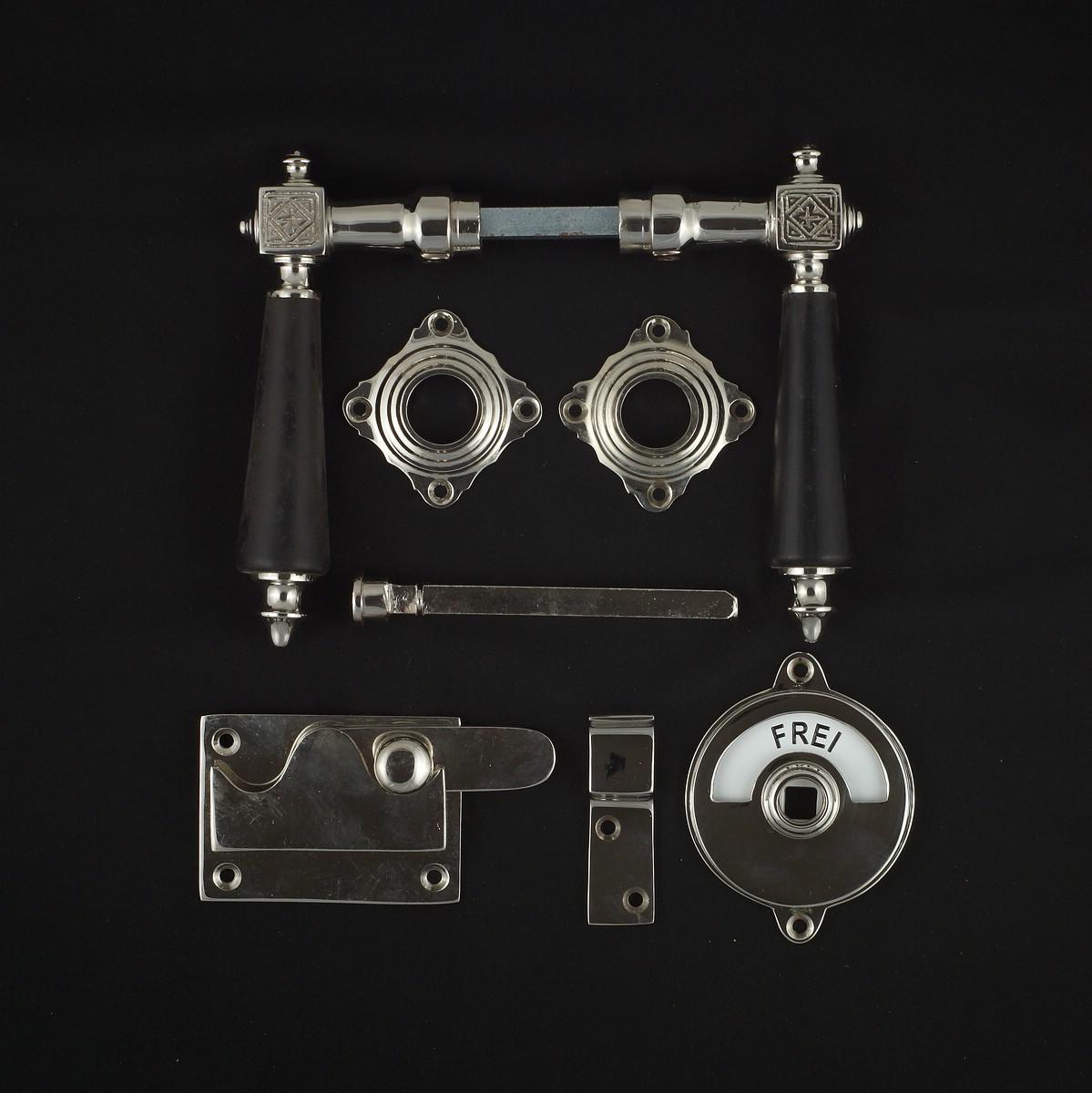 341.0245.10 WC-Zimmertür Rosettengarnitur - antike Türdrücker, Türklinken, Türbeschläge