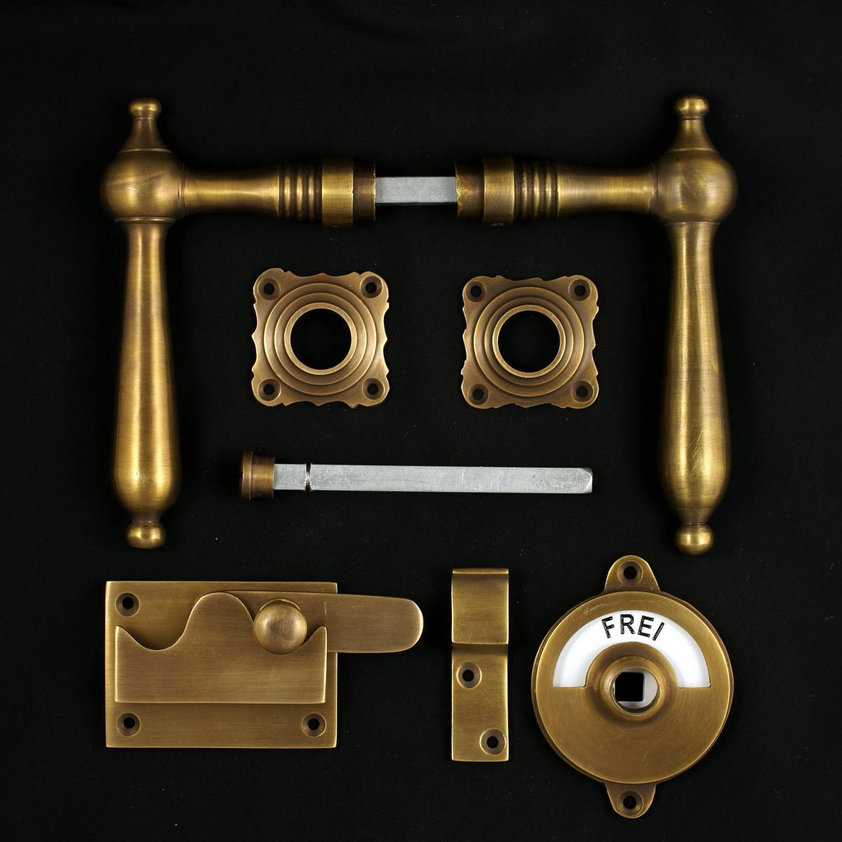 341.0070.45 WC-Zimmertür Rosettengarnitur - antike Türdrücker, Türklinken, Türbeschläge
