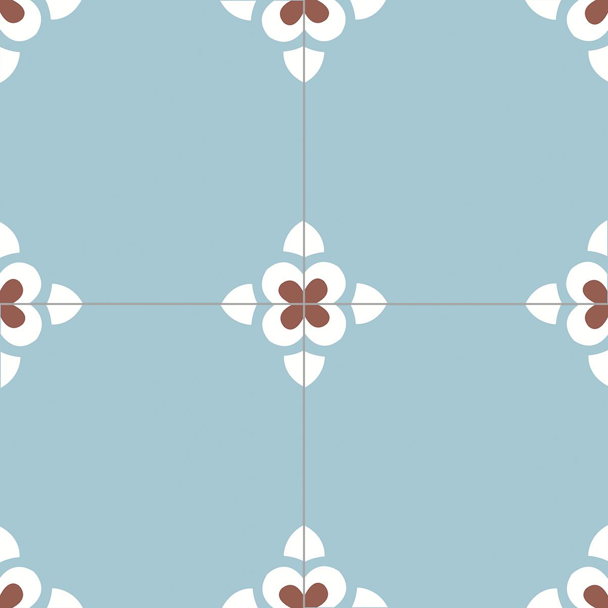 6.0006.20 Zementfliese / Retrofliese Dusk Blue