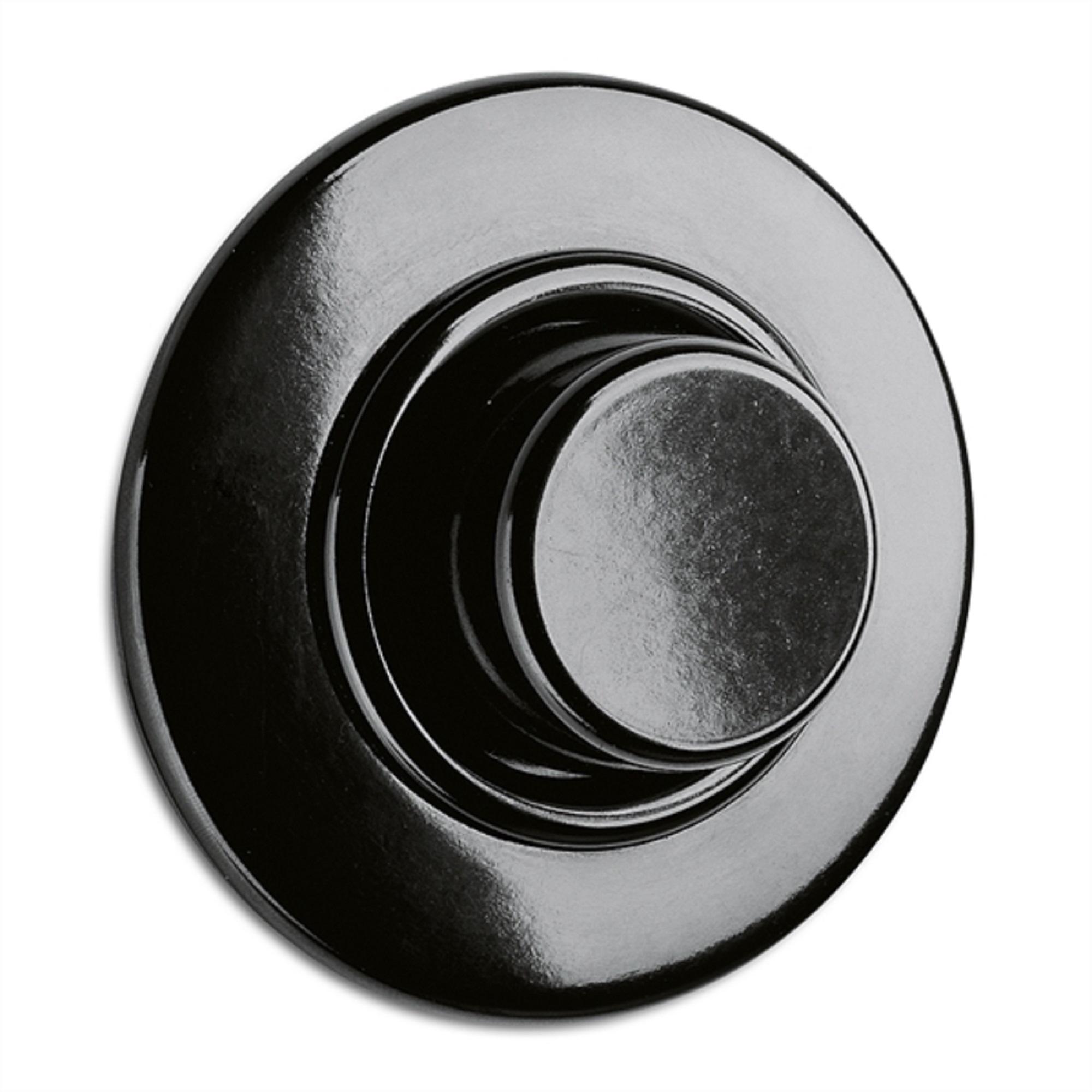 Dimmer Glühlampen, Unterputz-Schaltersystem Bakelit schwarz mit runder Abdeckung