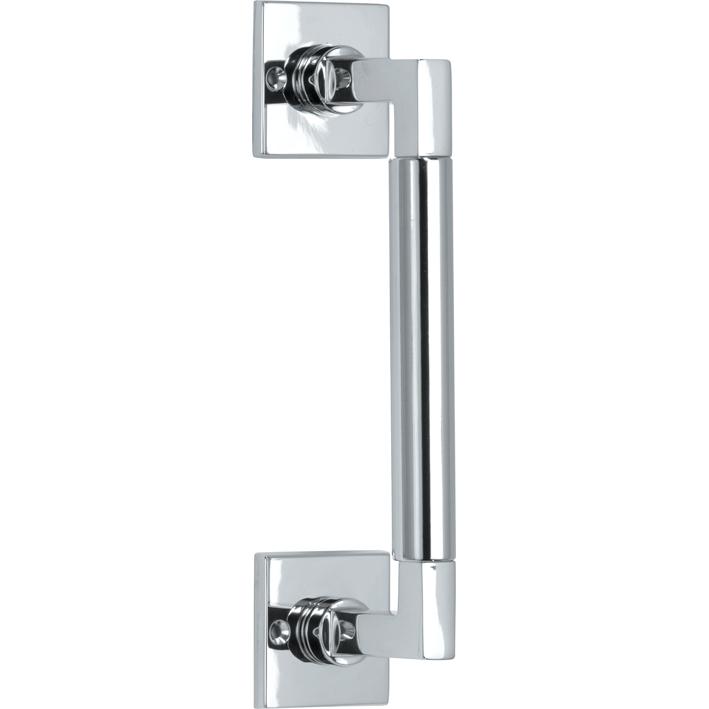 324.0030.12 Ziehgriff Messing verchromt poliert Bauhaus Stil