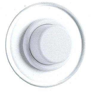 Dimmer Glühlampen Duroplast weiß mit Glasabdeckung