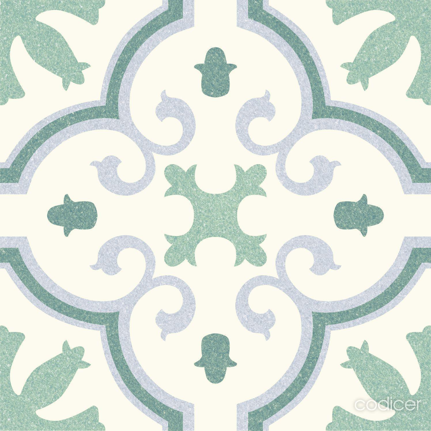 6.0008.21  Codicer Retrofliese / Feinsteinzeug MONTECARLO GREEN