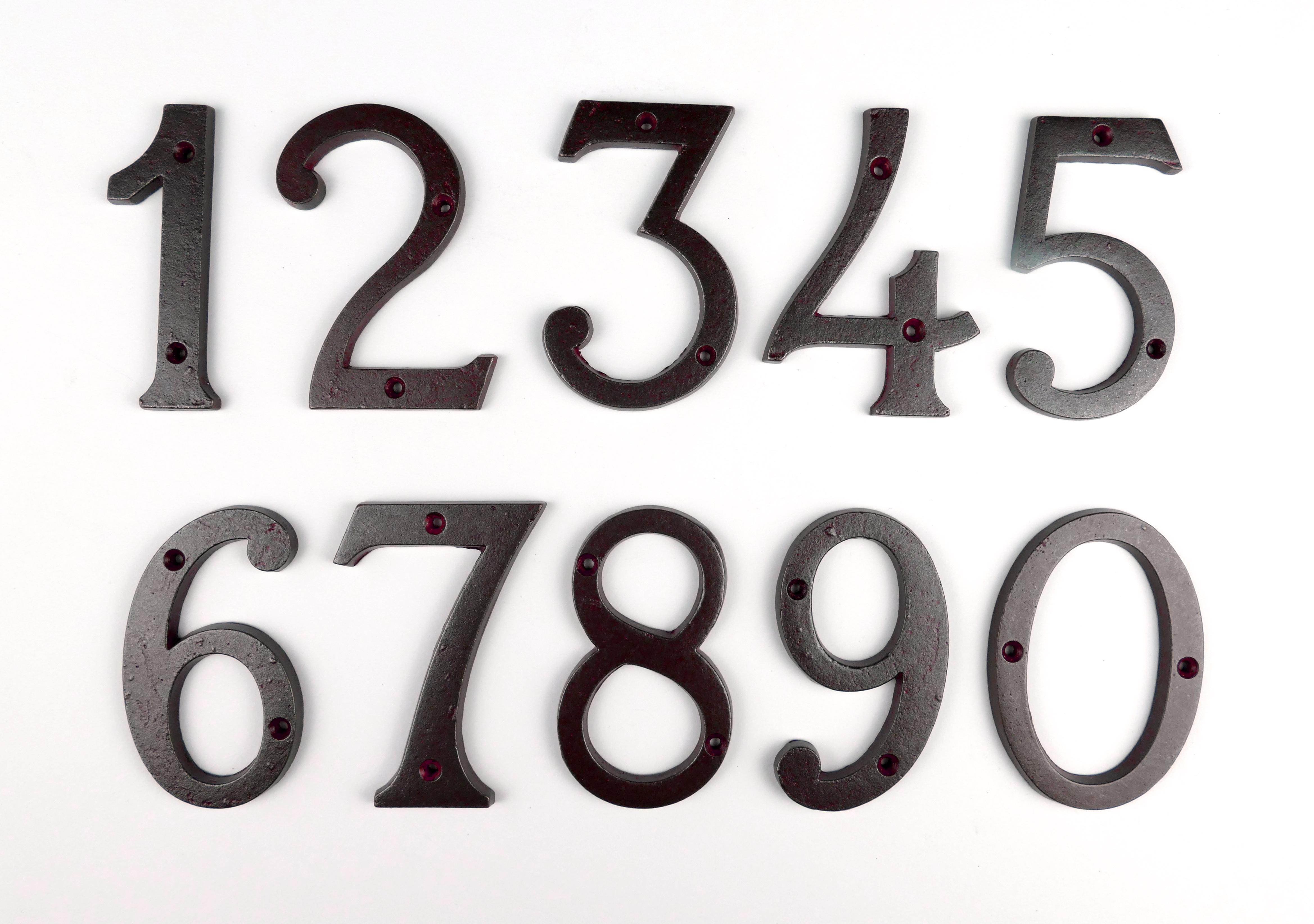 Hausnummer Zimmernummer Eisen antik
