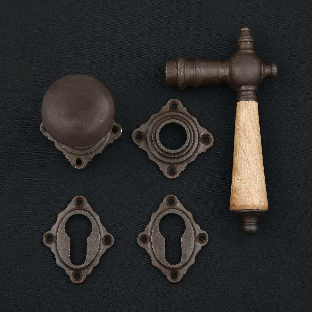 Eingangstür Rosettengarnitur - antike Türdrücker, Türklinken, Türbeschläge
