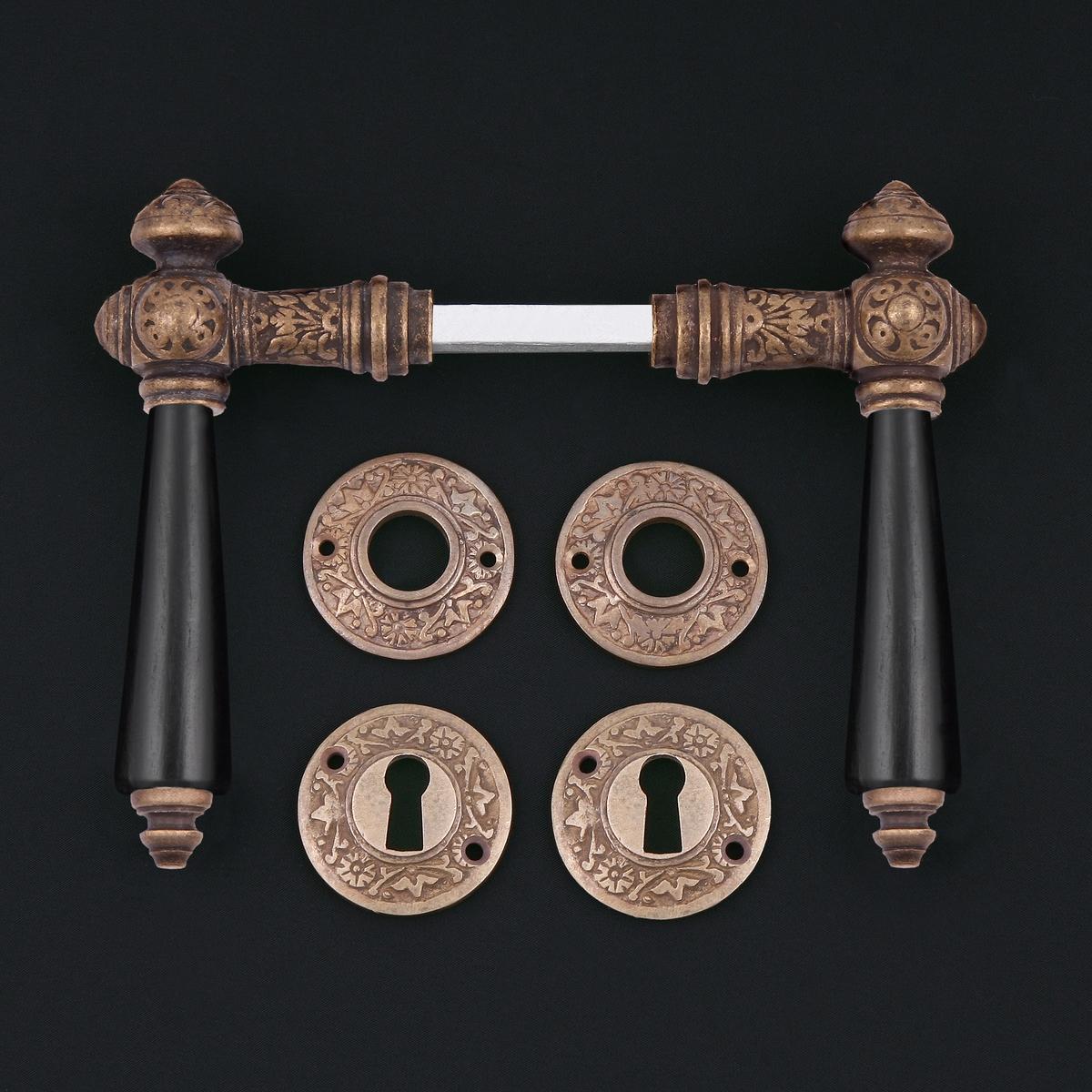 Zimmertür Rosettengarnitur - antike Türdrücker, Türklinken, Türbeschläge
