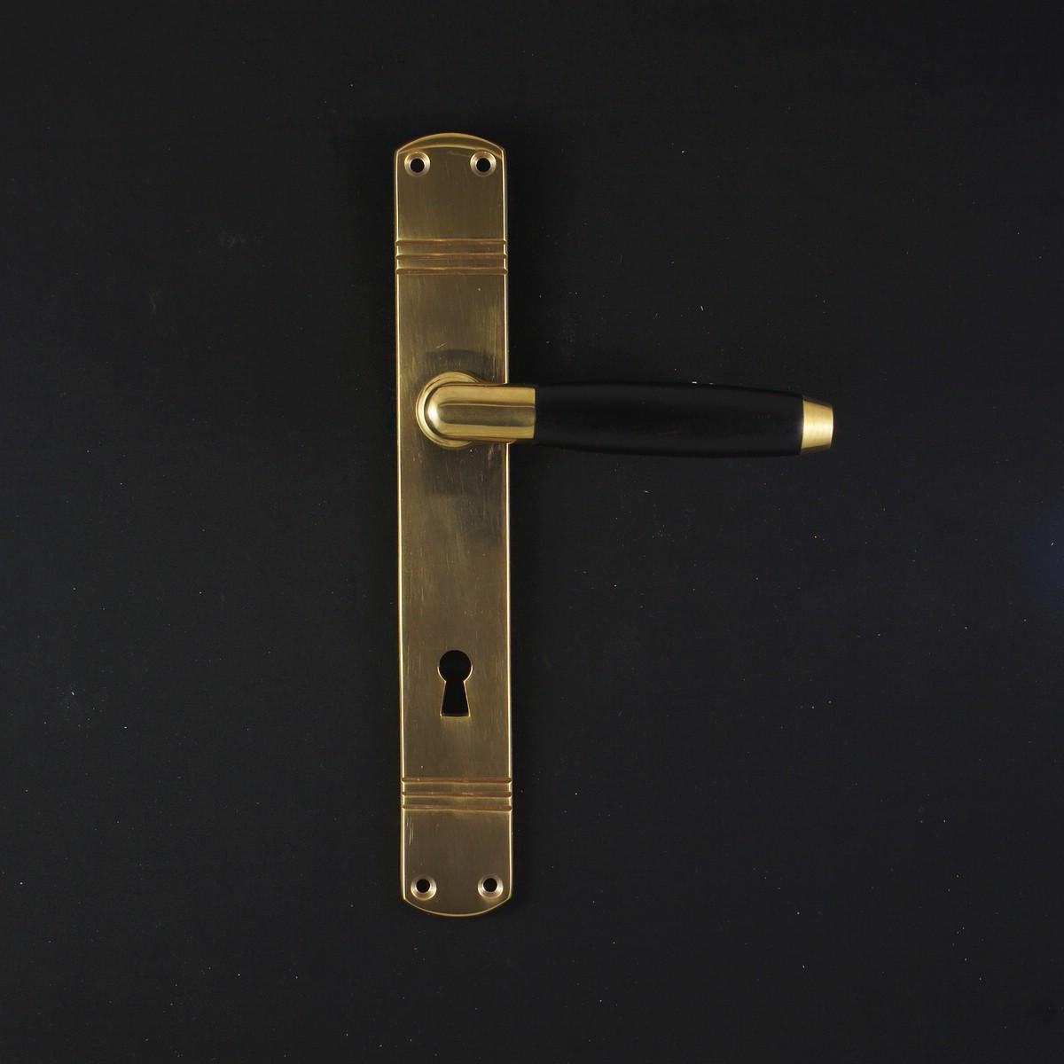Zimmertür Langschildgarnitur - antike Türdrücker, Türklinken, Türbeschläge